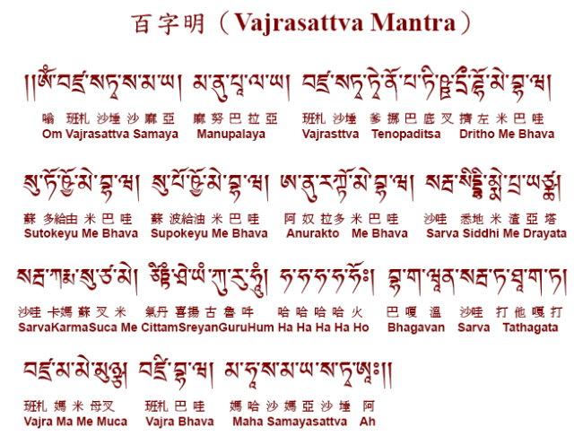 100 Слоговая Мантра Ваджрасаттва